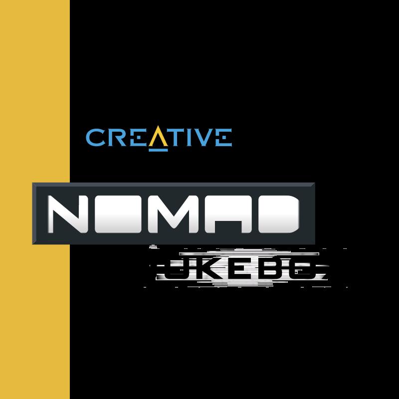 Creative Nomad Jukebox vector logo