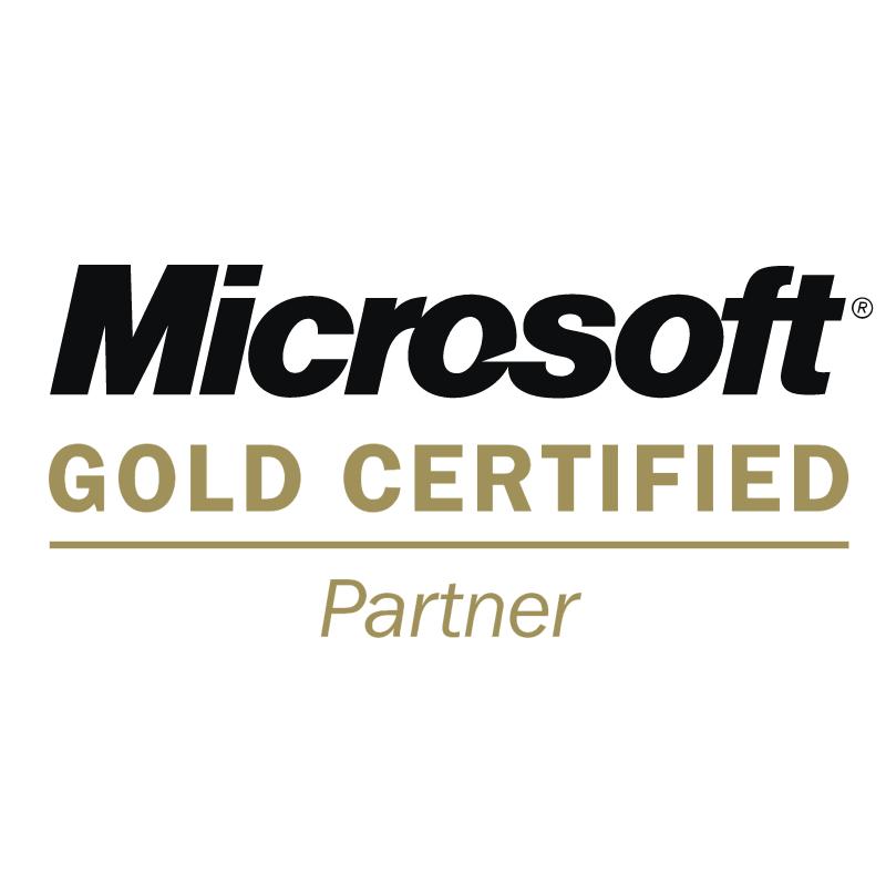 Microsoft Gold Certified Partner vector