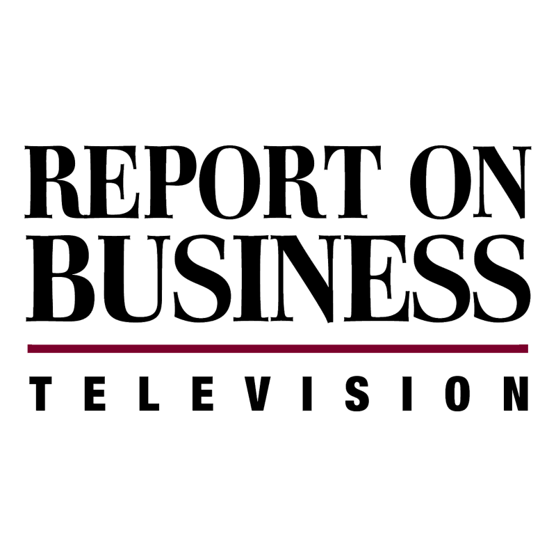 Report On Business Television vector