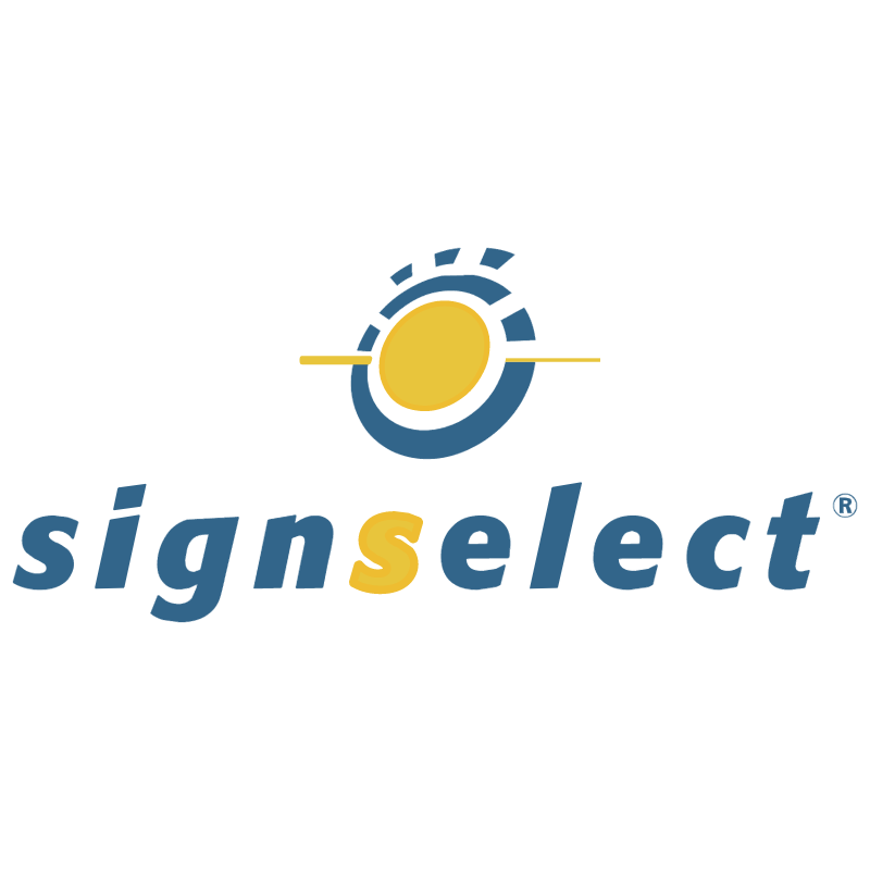 Signselect vector logo