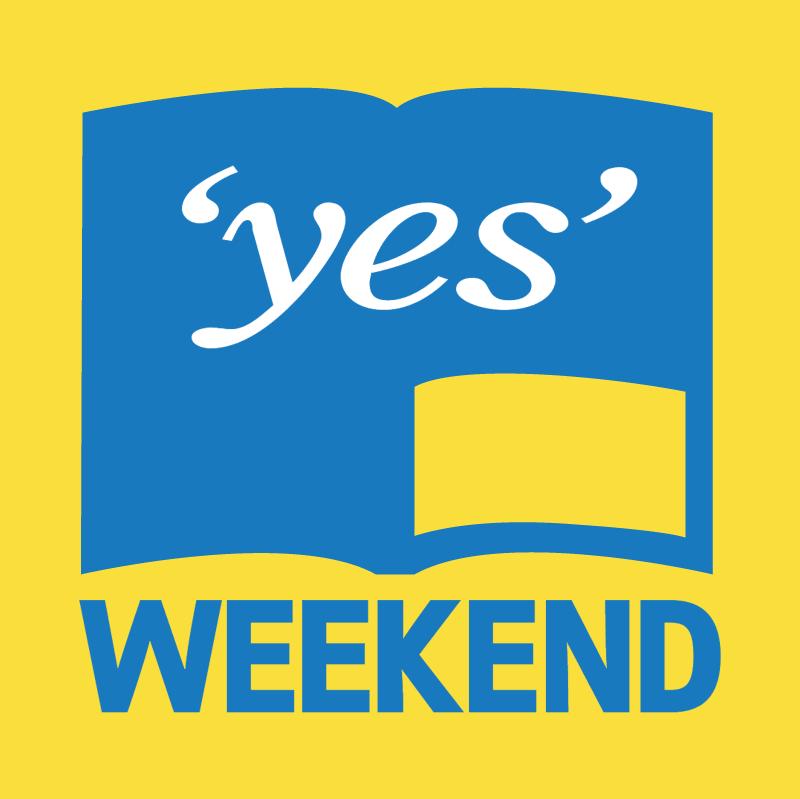yes weekend vector