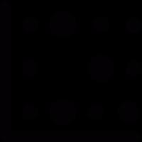 Dots chart vector