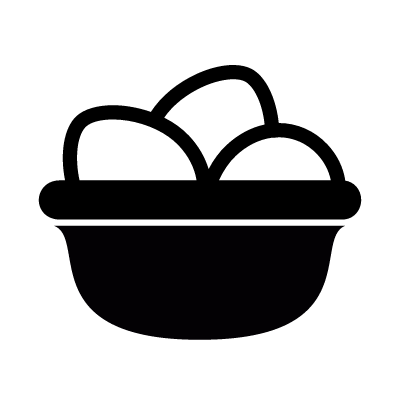 Eggs in basket vector logo