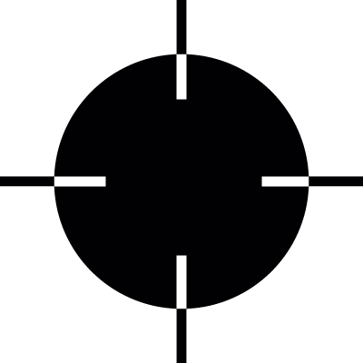 Black target pointer vector logo
