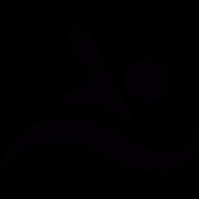 Swimming vector logo