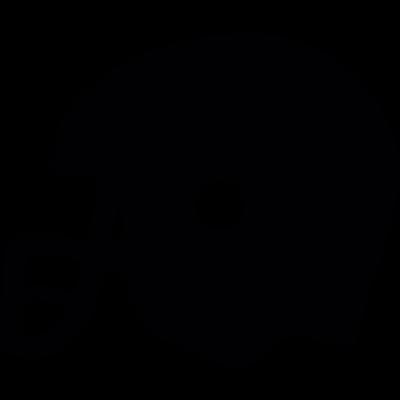 Football helmet vector logo