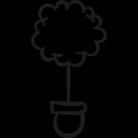 Tree In Pot vector