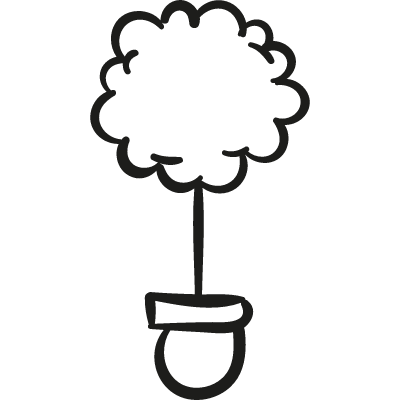 Tree In Pot vector logo