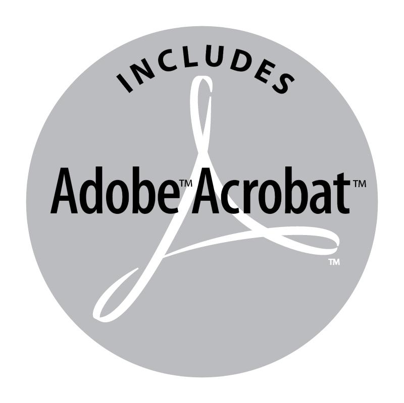 Adobe Acrobat Includes vector