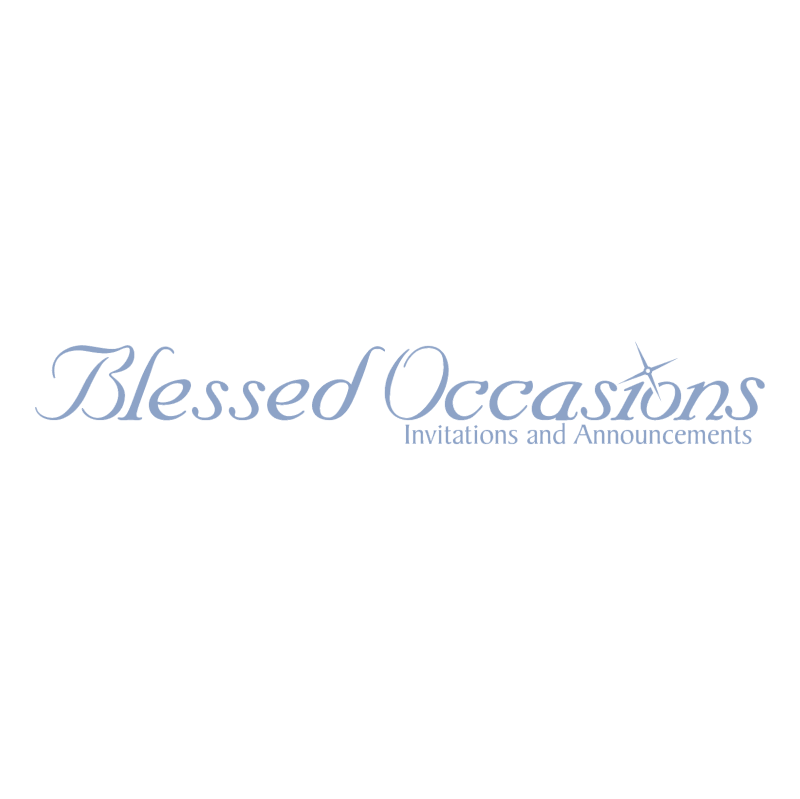 Blessed Occasions vector logo