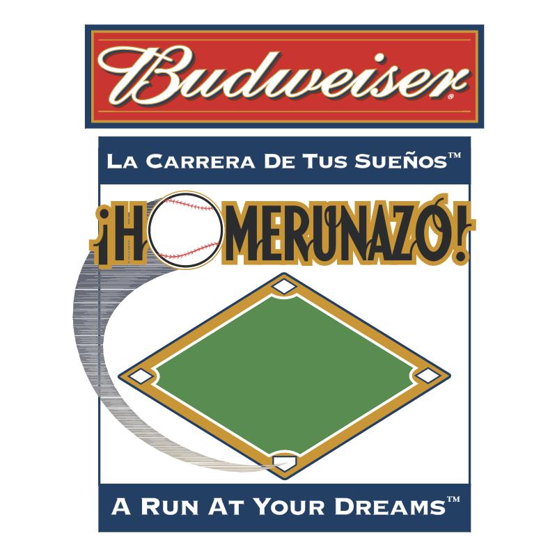 Budweiser Homerunazo vector
