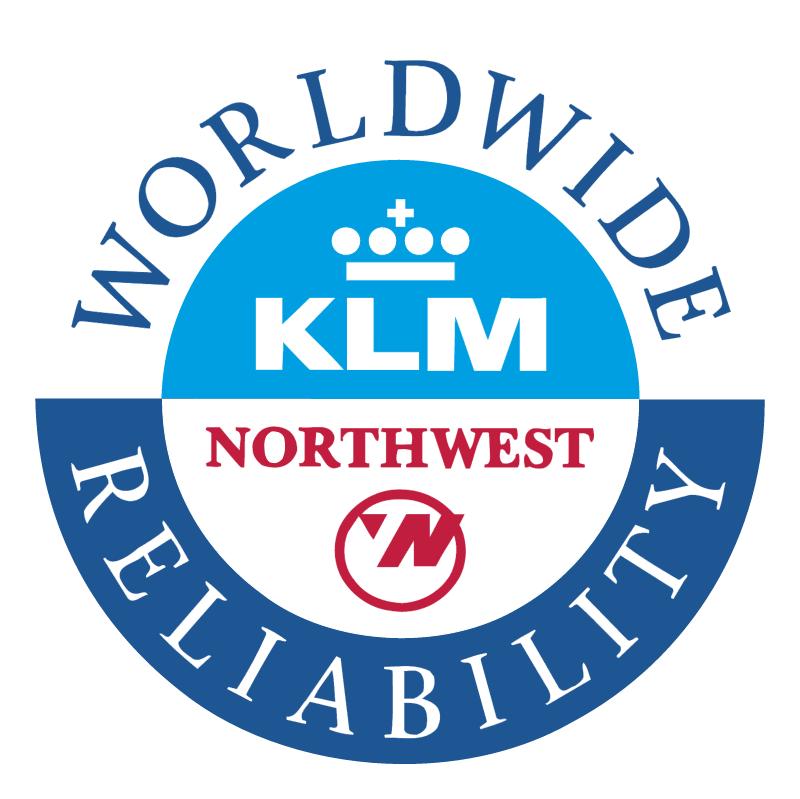 Northwest Airlines KLM vector