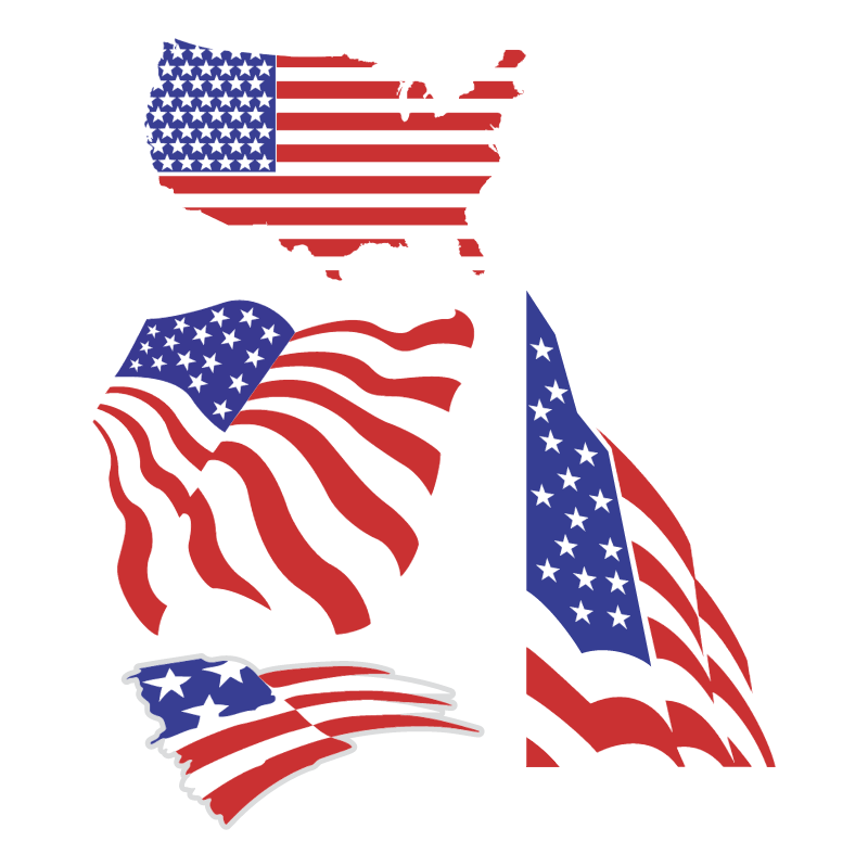 US flags vector