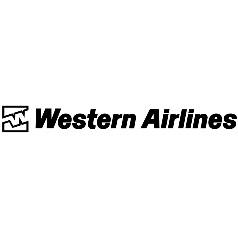 Western Airlines vector logo
