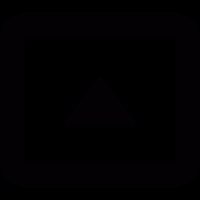 Square arrow up vector logo