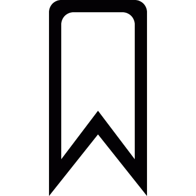 Mark ribbon vector logo