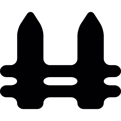 Black fence vector logo