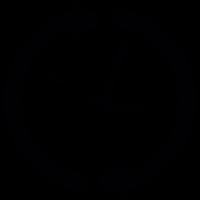 Clock with circular arrows vector