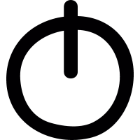 Power button doodle vector