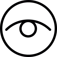 Eye in a circle vector