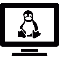 Linux computer vector