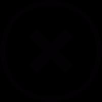 Cancel button vector