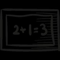 Mathematical School Blackboard vector