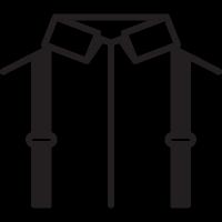Camisa con tirantes vector