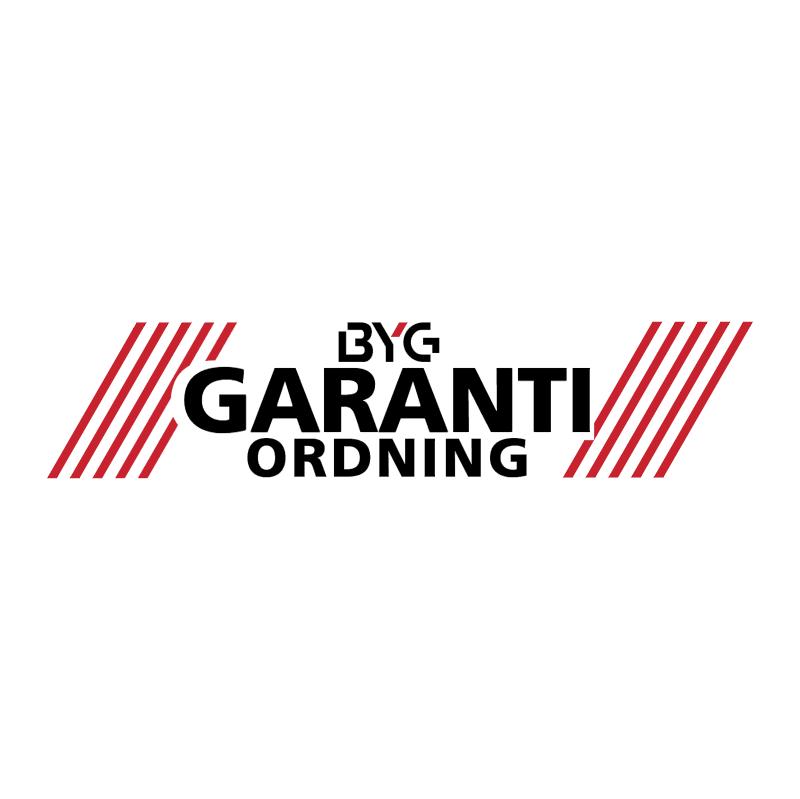 BYG Garanti Ordning vector