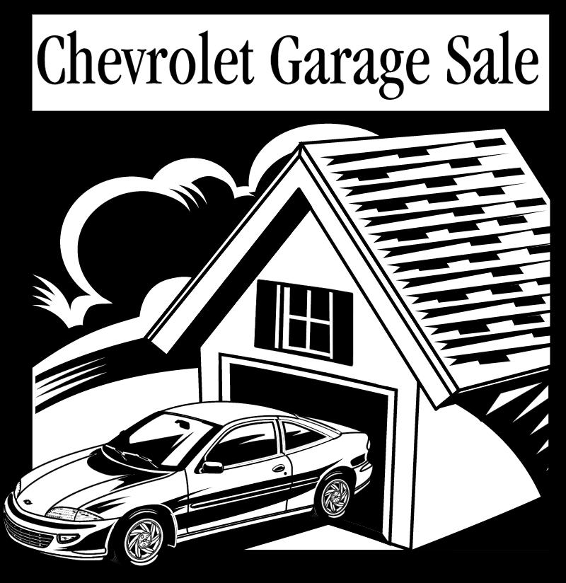 Chevrolet Garage Sale logo vector