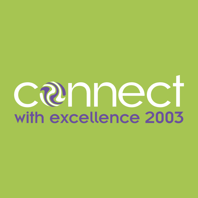 Connect with excellence 2003 vector