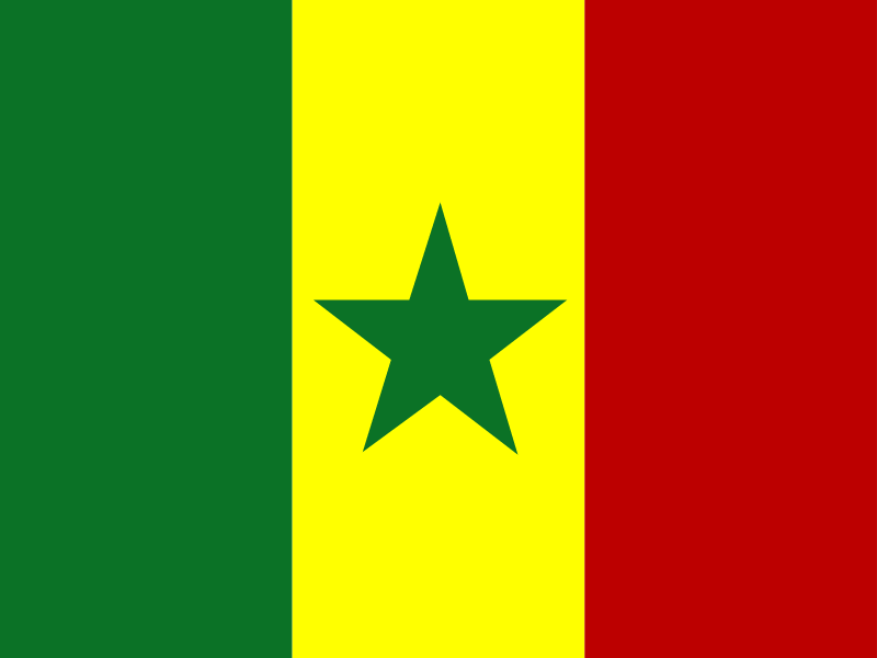 Flag of Senegal vector