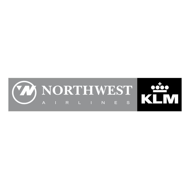 Northwest Airlines KLM vector