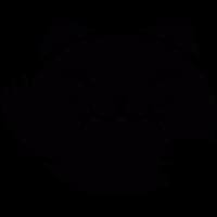 Japanese Cat Head vector