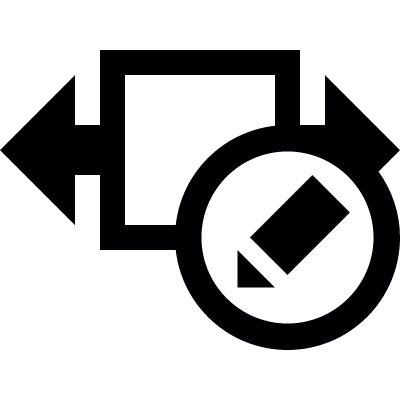 Width size edit button vector logo