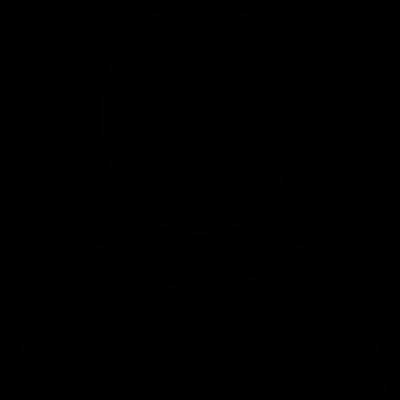 Black user shape vector logo
