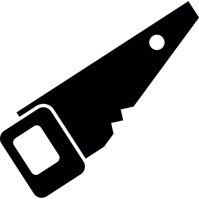 Black saw vector logo