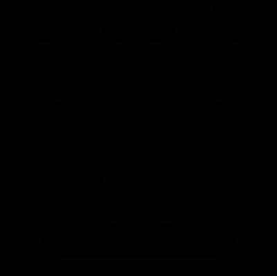 Day 17 Calendar vector logo