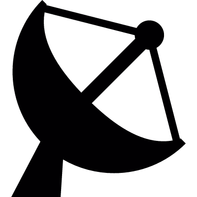 Satellite dish vector logo