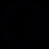 Euro Round Button vector