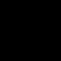 Film strip reel vector