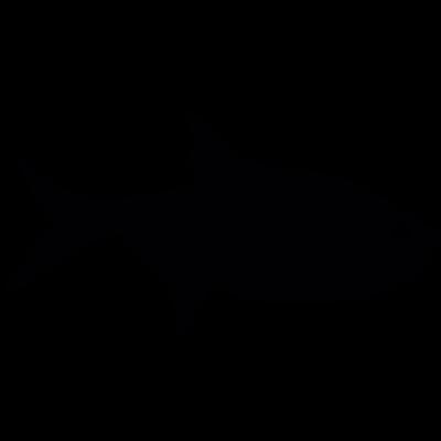 Fish silhouette vector logo