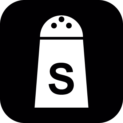 Salt shaker container vector logo