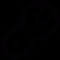 Spanner outline vector
