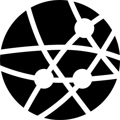 Earth with dots and lines of connections of business vector logo