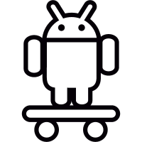 Android On Skateboard vector
