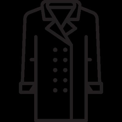 Men Coat vector logo