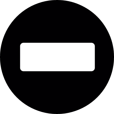 No Entry Traffic Sign vector logo