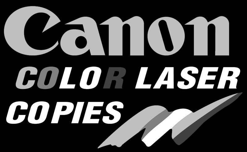 CANON COLOR COPIES vector logo