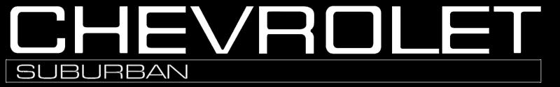 Chevrolet Suburban logo vector